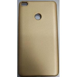 Чехол-накладка Carbon для Xiaomi Mi MAX 2 (Золотой)