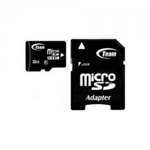 Карта памяти Team microSDHC 32GB Class 10 (с адаптером) (TUSDH32GCL1003)