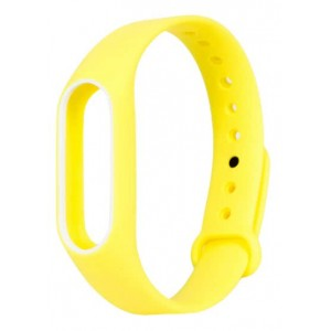 Ремешок для браслета Xiaomi Mi Band 2 yellow-white