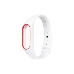 Ремешок для браслета Xiaomi Mi Band 2 white-red
