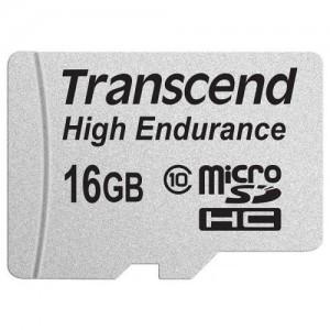 Карта памяти Transcend microSDHC High Endurance 16GB Class 10 (с адаптером) (TS16GUSDHC10V)