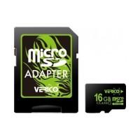 Карта памяти Verico microSDHC 16GB Class 10 (с адаптером) (VFE3-16G-V1E)