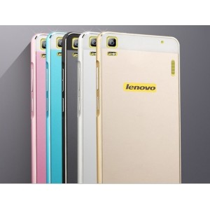 Чехол-накладка Aluminium для Lenovo K3 Note gold