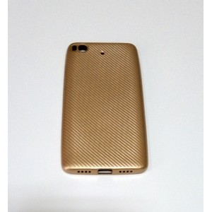 Бампер TPU Carbon (Gold) для Xiaomi Mi5s