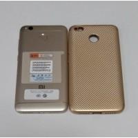 Бампер TPU Carbon (Gold) для Xiaomi Redmi 4X