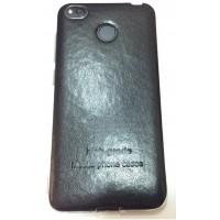 Бампер TPU Leather (Black) для Xiaomi Redmi 4X